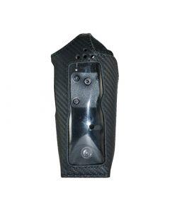 Housse cuir optic carbone avec clip rotatif, bouton de verrouillage pour POLYCOM TPH700