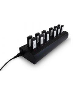 EADS / AIRBUS / POLYCOM / multi chargeur pour TPH700 / 6x2 Batteries