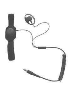 Laryngophone avec oreillette, connecteur Nexus 6,5 mm