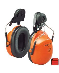 Capsules de protection auditive forestier H31 - attaches casque, orange