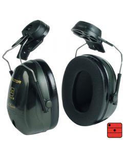 Capsules de protection auditive Optime II - attaches casque, verte