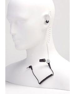 Ohrhörer mit Spiralschlauch und 3,5mm Jack für Monophon
