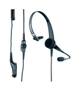 Mono écouteur avec microphone, léger, PTT sur le cordon